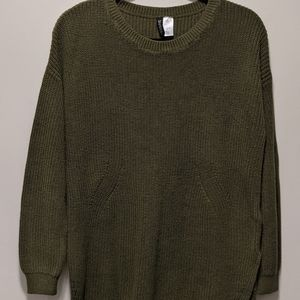 Olive green oversized sweater